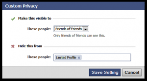 Facebook : Reset your Privacy Settings