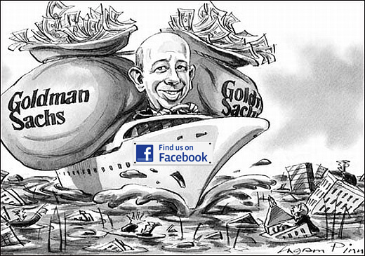 Virtually worth gold! Goldman Sachs invests $450 million in Facebook.
