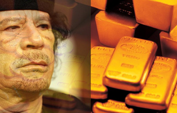 Gold surges with reports of Gaddafi's $6.4billion gold reserves