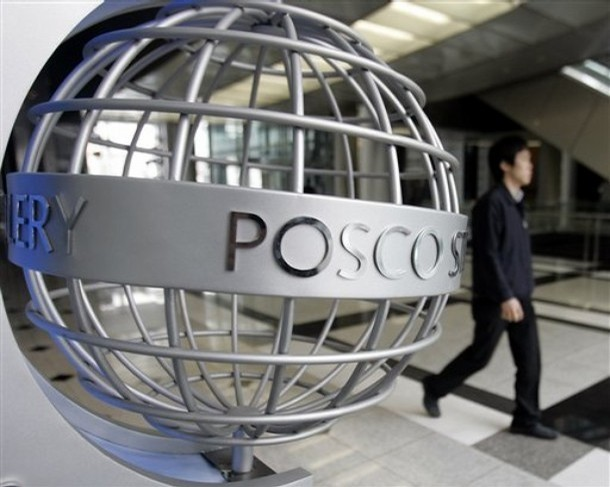Posco, world's third largest steel-maker, climbs 10% post Japan quake