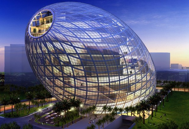 Virtualising Mumbai. The Cybertecture Egg by James Law & Ove Arup