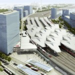 Proposed Railway Station by Strabag in Vienna - Austria