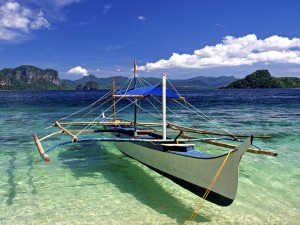 tropical paradise, crystal clear waters; Palawan