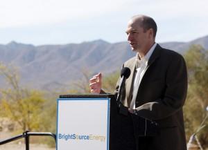 BrightSource Energy CEO John Woolard_Ivanpah groundbreaking