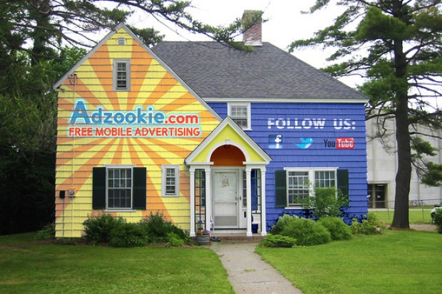 Paint your Home into a Billboard, Adzookie will Pay your Mortgage