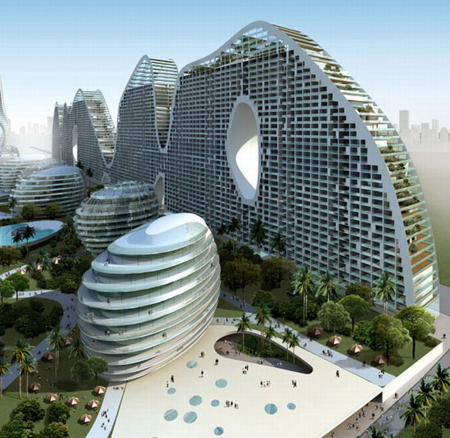 Eco-friendly Fake Hills in Beihai, China: MAD Architects