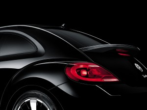 The 21st century Beetle's rear: gone are the circular tail lights; the windows are narrower and sharper