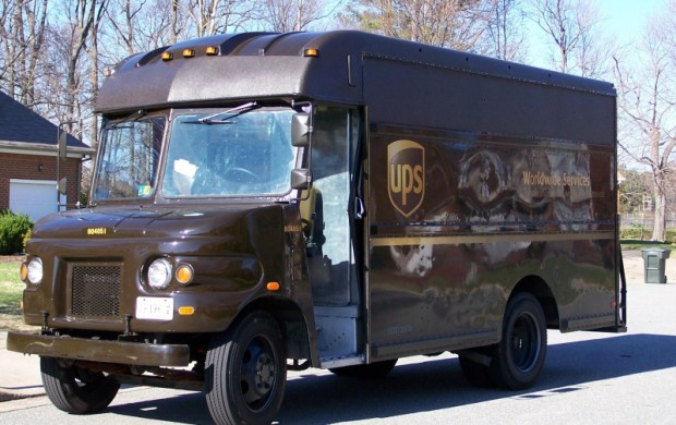 UPS truck_UPS goes green with telematics technology