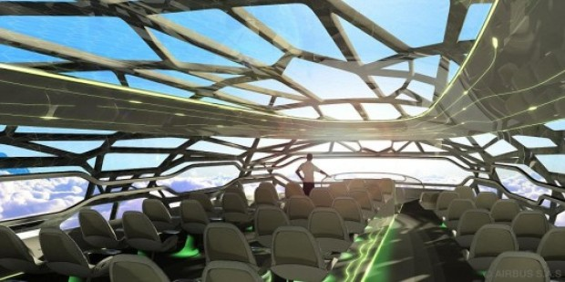 The Future of Flying: Transparent, 100% Recyclable Plane by Airbus.