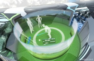 Holographic Golf in Airbus Concept Cabin