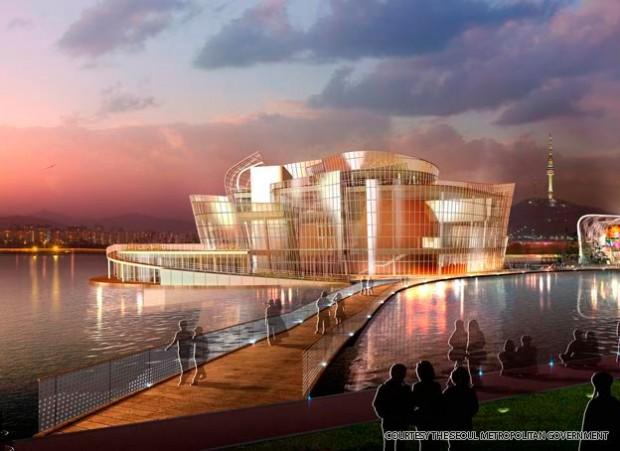 World's Largest Artificial Solar-Powered Floating Island: Viva,Seoul