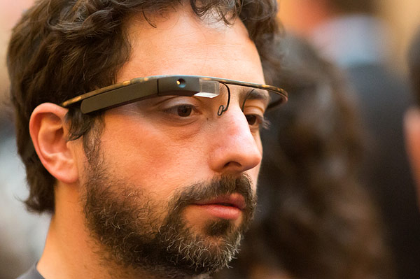 Google's Co-Founder Sergey Brin spotted wearing project glass
