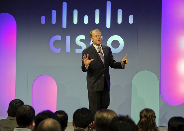 Cisco Systems reported a 4% gain in sales