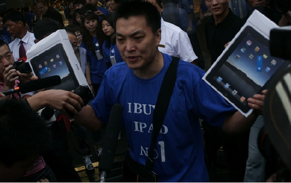 Apple's Low key debut for iPad 3 launch in China