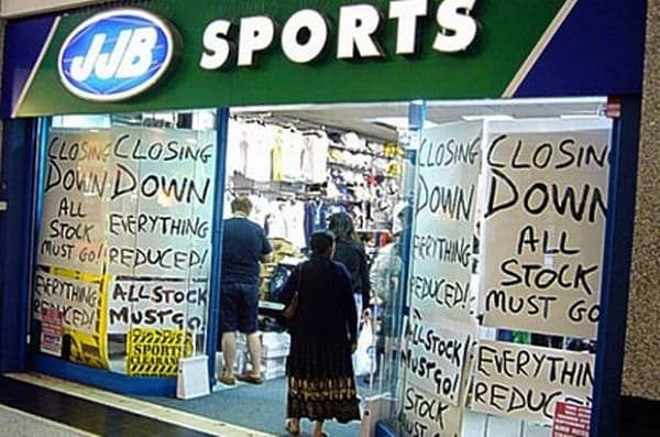 JJB Sports puts itself for sale while warning that its shares may be worthless
