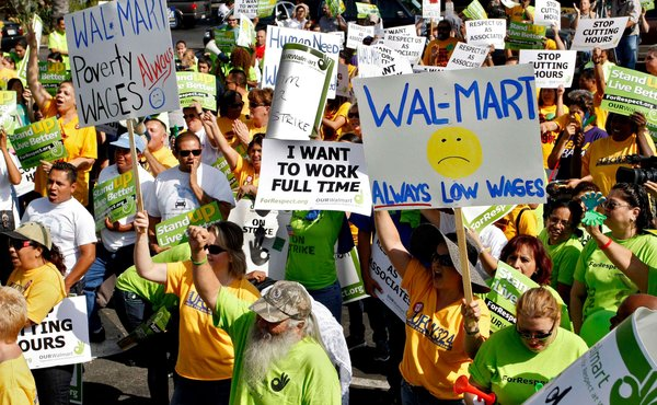 US labor charge filed by Wal-Mart against its union