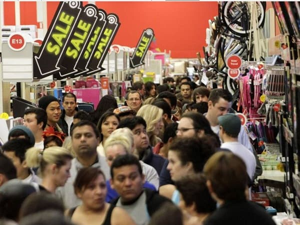 Thanksging shopping frenzy