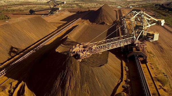 Iron ore mining operation of Rio Tinto