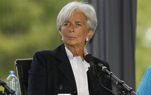 IMF's Lagarde says global economy has moved forward