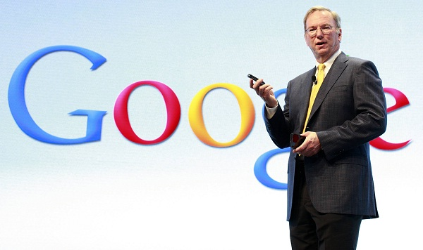Chairman Schmidt champions tax records of Google
