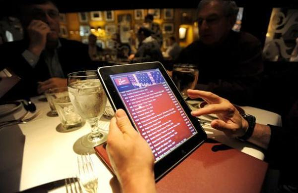 Ordering food from an iPad; trend that is about to stay