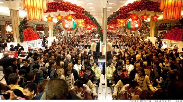 Christmas gift shopping boosts the holiday retail business