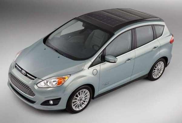 Ford solar-powered hybrid car prototype