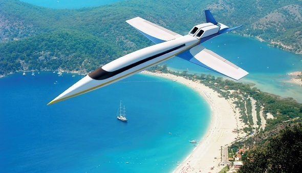 Supersonic Jet S-512 Spike Replaces Windows with Massive Live Streaming Screens