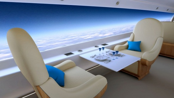 S512 will have a curved, full-length HD screen that spans the entire fuselage instead of windows
