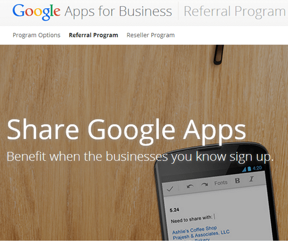 Google's New Apps Referral Program Offers $15 For Successful Sign-Ups