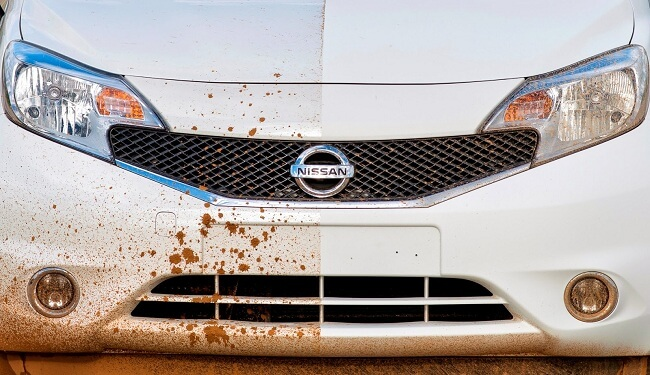 Nissan is testing a self-cleaning car
