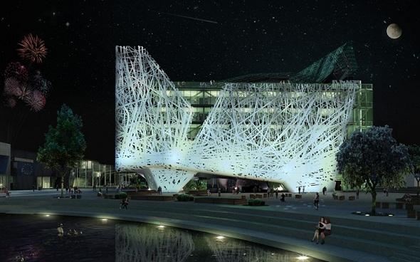 Un Capo d'opera! Palazzo Italia to get a smog-purifying façade for Milan Expo 2015
