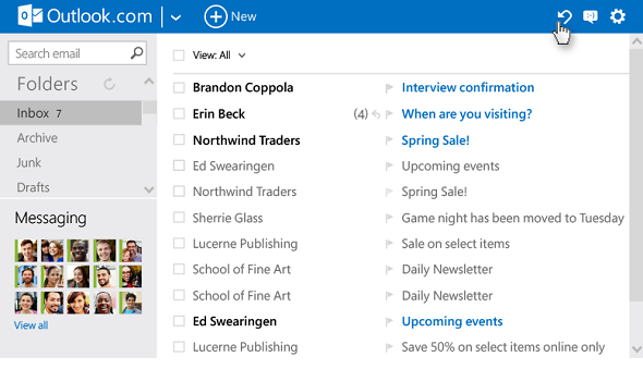 Microsoft Streamlines Outlook.com