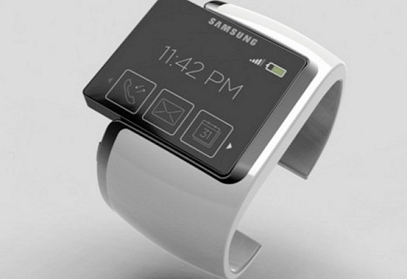 The above image is a mock-up of the Samsung Smartwatch