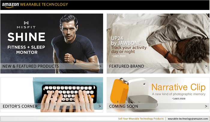 Amazon launches tech store dedicated to all things wearable