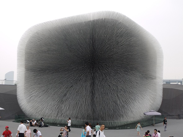 Thomas Heatherwick's Dandelion Seed design for the UK Pavilion at Shanghai World Expo 2010