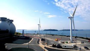 (Image: Wind Turbines, Deer Island. Massachusetts)