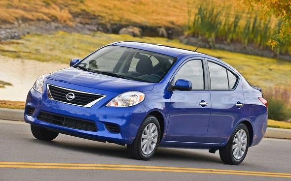 (Image: Nissan Versa, Avg- $12,618)