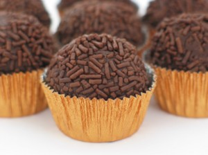 Brigadeiro, national truffle of Brazil.