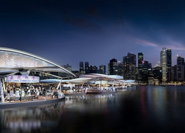 STARK Architects Plans to Create Sustainable Floating Hawkers Centre in Singapore