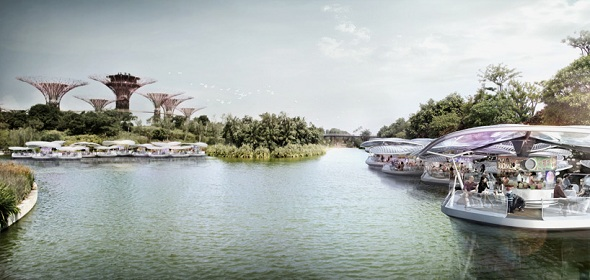 SPARK Architects Floating Solar Orchids Hawker Center