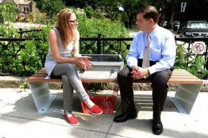 Chill Out & Get Wicked Tanned! Boston Sets up Solar Benches 'Soofa' that can charge your cellphone