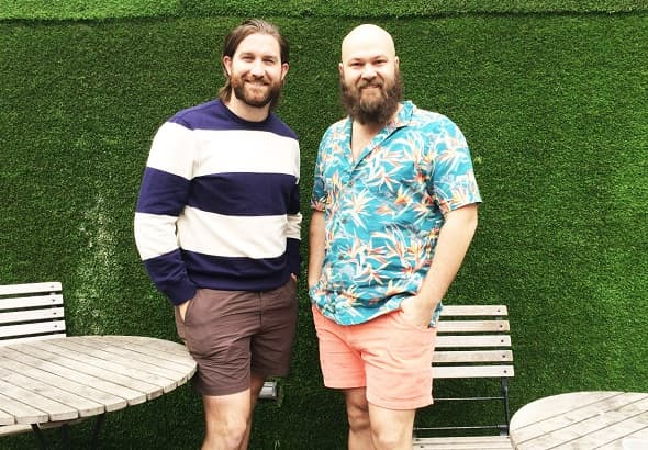 Chubbies founders Rainer Castillo and Kyle Hency