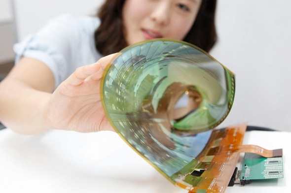 LG Demonstrates World's First 18-Inch Flexible, Transparent OLED Display