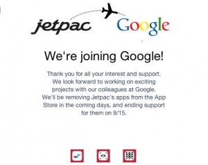 JetPac announcement found on its website