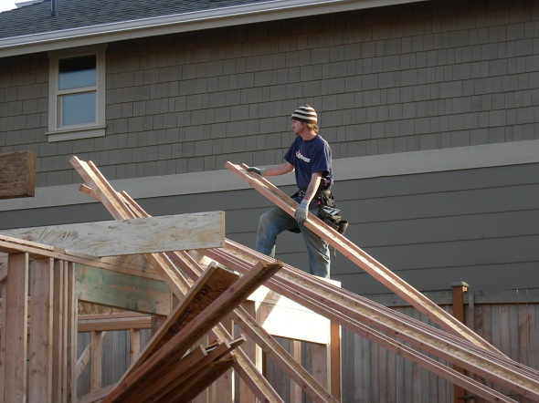 Home construction began tumbling off in the second half of 2014 as declining affordability affected interest.
