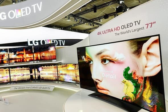 LG 4K OLED TV uses an improved panel which features LG's proprietary Four-Color Pixel WRGB technology