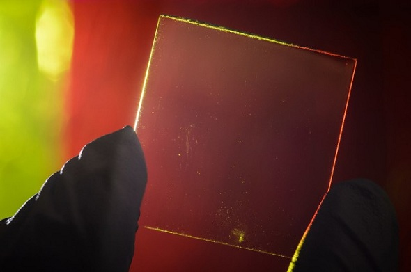 If you look closely, you would only be able to see several black strips along the edge of the plastic. Generally, however, the main part of the solar panel is highly transparent.