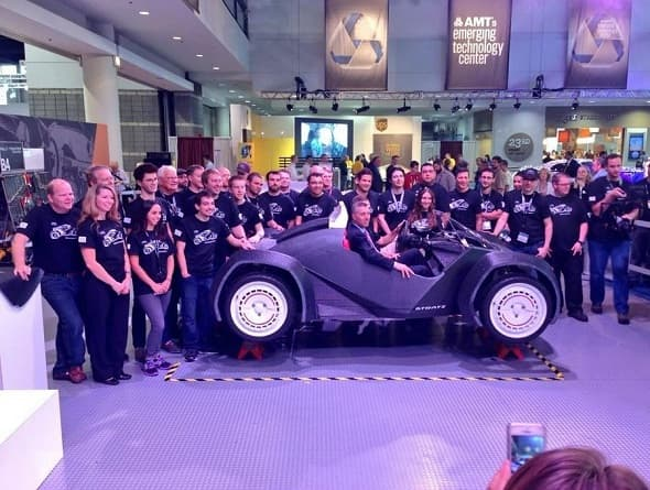 World's First Entirely 3D Printed Car, Built And Driven At IMTS Chicago