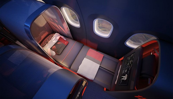 NIKE and Design Firm Teague Conceptualize Aircraft Interior for Professional Athletes